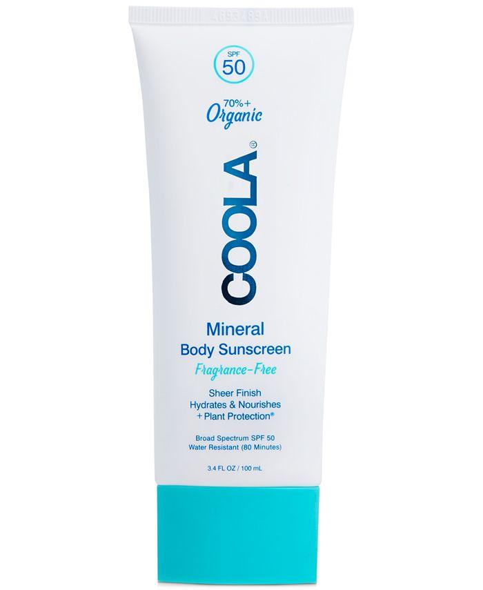 COOLA - Coola Mineral Body Organic Sunscreen Lotion SPF 50 - Fragrance Free, 3.4-oz.