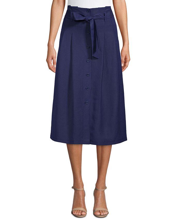 Anne Klein - Belted Midi Skirt