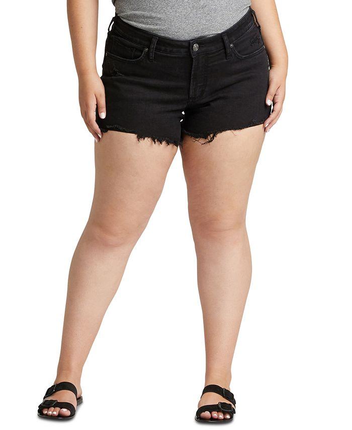 Silver Jeans Co. - Trendy Plus Size Denim Boyfriend Shorts