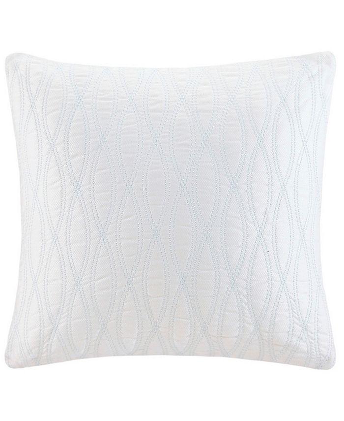 "Harbor House - Coastline Embroidered 18"" Square Decorative Pillow"