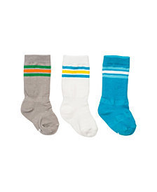 Cheski Sock Company Baby Boy Mixed Classic Athletic Knee Socks, Pack of 3