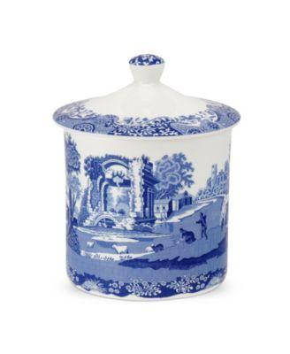 Blue Italian Storage Jar