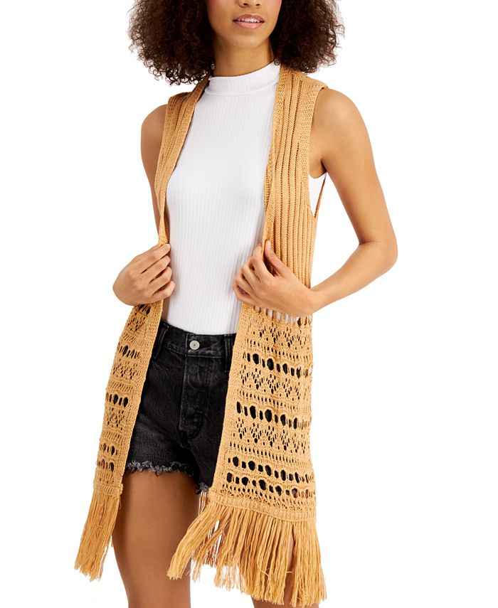Freshman - Juniors' Fringed Vest