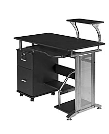 OneSpace Rothmin Computer Desk with Storage Cabinet