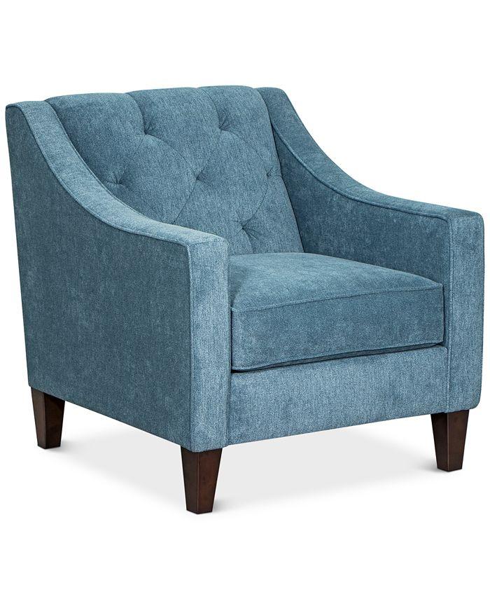 """Furniture - Chloe II 31"""" Fabric Chair"""