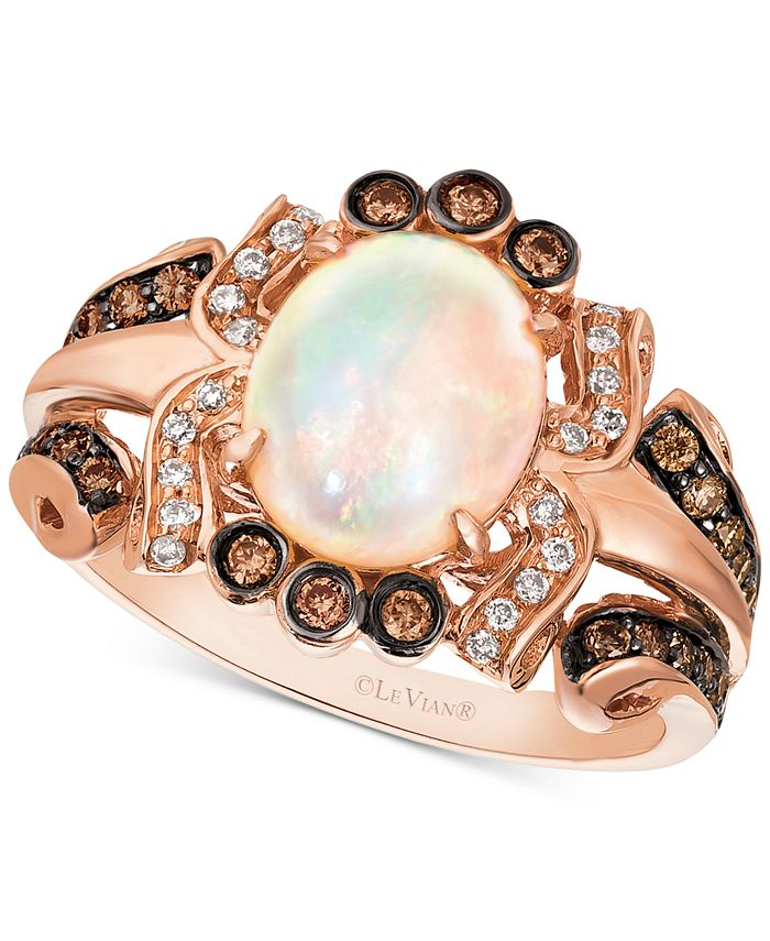Le Vian - Neopolitan Opal (1-1/5 ct. t.w.) & Diamond (3/8 ct. t.w.) Statement Ring in 14k Rose Gold