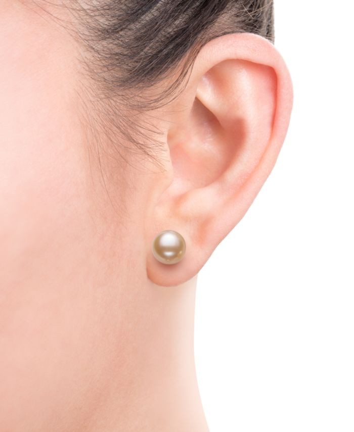 Macy's 4-Pc. Set Cultured Freshwater Pearl (8mm) & Crystal Stud Earrings in Sterling Silver & Reviews - Jewelry & Watches - Macy's