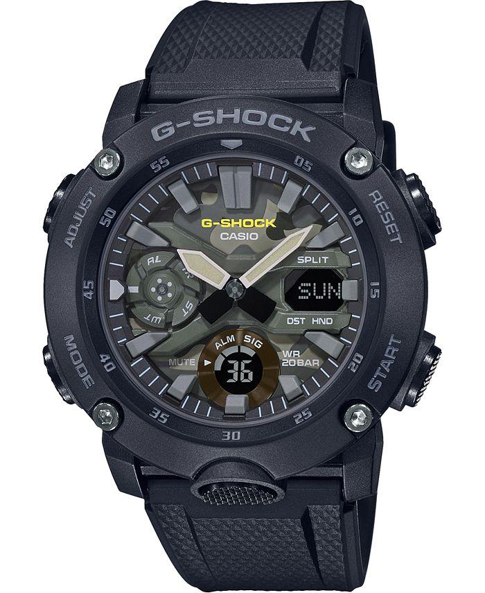 G-Shock - Men's Analog-Digital Black Resin Strap Watch 48.7mm