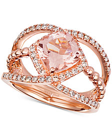 Le Vian® Peach Morganite (1-5/8 ct. t.w.) & Diamond (3/8 ct. t.w.) in 14k Rose Gold