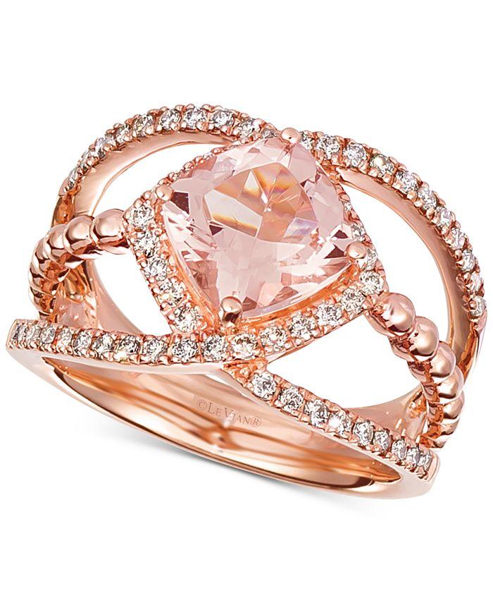 Le Vian - Peach Morganite (1-5/8 ct. t.w.) & Diamond (3/8 ct. t.w.) in 14k Rose Gold