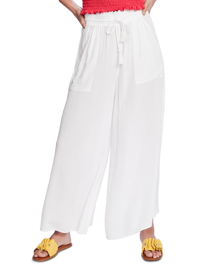 1.STATE - Crinkled Wide-Leg Pants