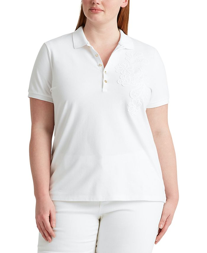 Lauren Ralph Lauren - Plus Size Stretch Cotton Polo