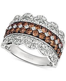 Le Vian® Diamond Crown Ring (2 ct. t.w.) in 14k White Gold
