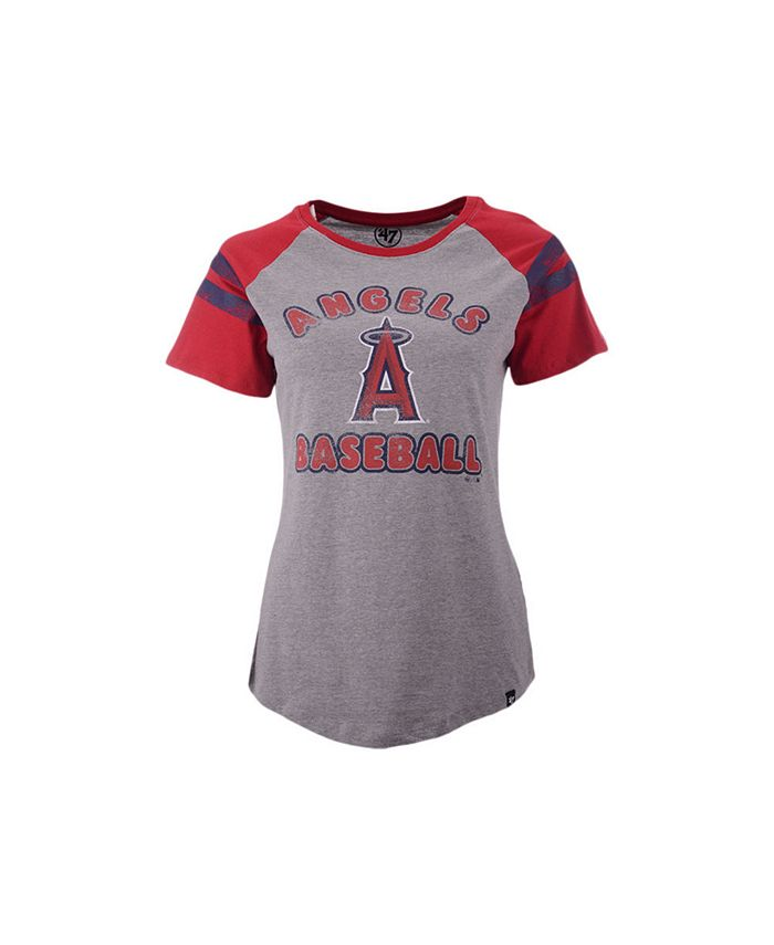 '47 Brand - Women's Los Angeles Angels Fly Out Raglan T-shirt