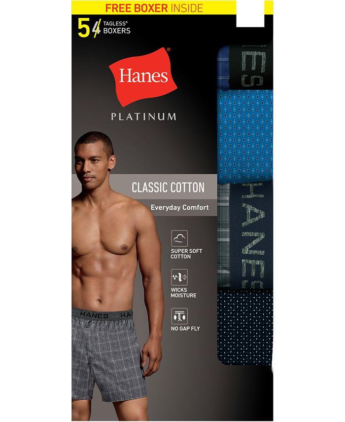 Hanes - Men's 5-Pk. Platinum Woven Boxers