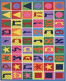 "Fun Rugs Fun Time Hbrw Numbers Letters 19"" x 29"" Area Rug"