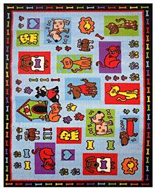 """Fun Rugs Fun Time Pets R US 19"""" x 29"""" Area Rug"""
