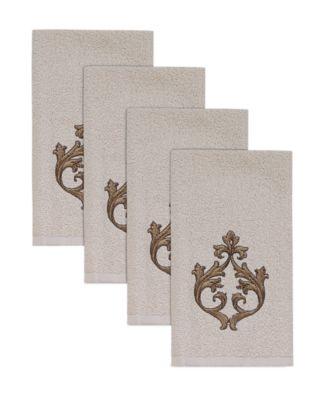 Monaco Hemmed Fingertips Towel, 4 Piece Set