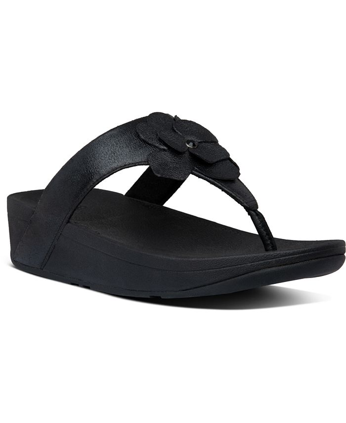 FitFlop - Lottie Corsage Suede Thong Sandals