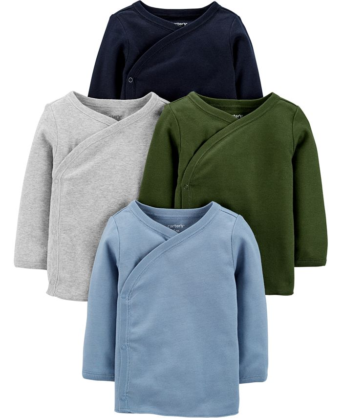 Carter's - Baby Boys 4-Pack Side-Snap Cotton Shirts