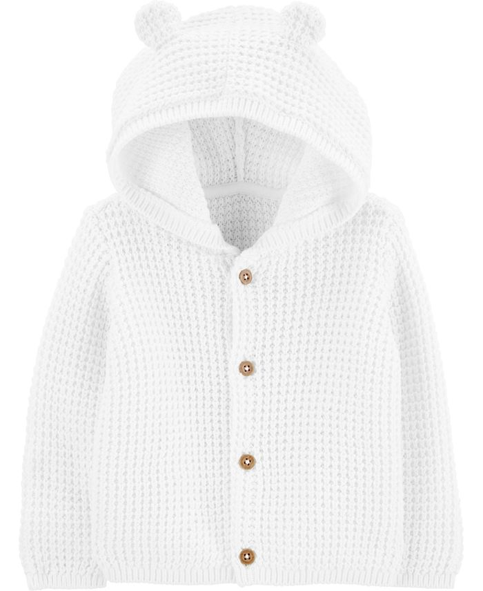 Carter's - Baby Boys or Girls Hooded Cotton Cardigan Sweater