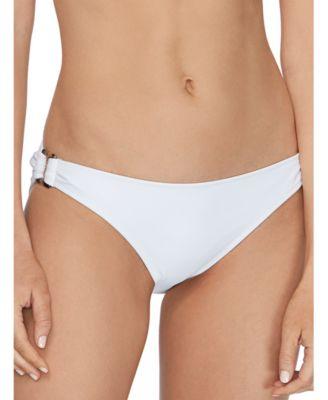Juniors' Cali Solids O-Ring Bikini Bottoms