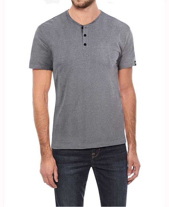 X-Ray Men's Soft Stretch Henley T-Shirt