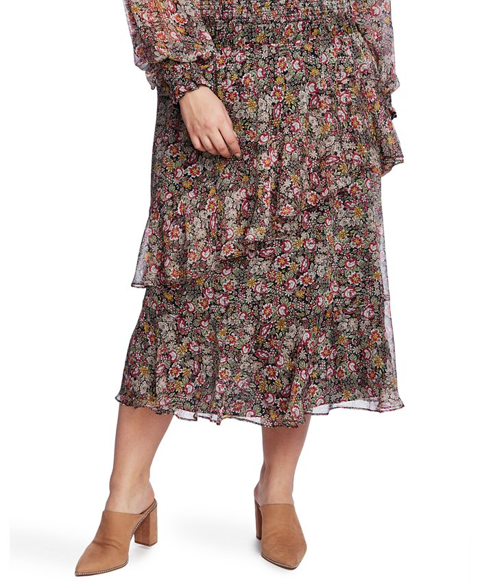 1.STATE - Trendy Plus Size Off-The-Shoulder Tiered Dress