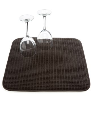 Martha Stewart Collection Black Drying Mat