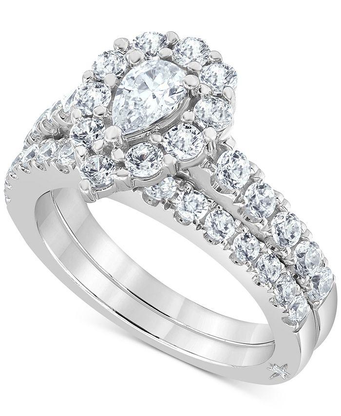 Marchesa - Certified Diamond Pear Halo Bridal Set (2 ct. t.w.)