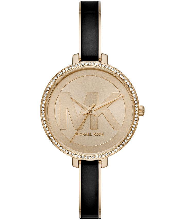 Michael Kors - Women's Jaryn Three-Hand Gold-Tone Stainless Steel Watch 36mm