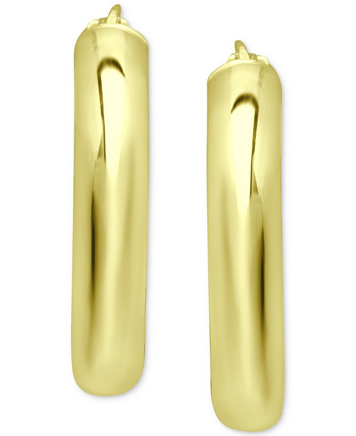 """Giani Bernini - Small Polished Hoop Earrings in 18K Gold-Plated Sterling Silver, 1"""","""