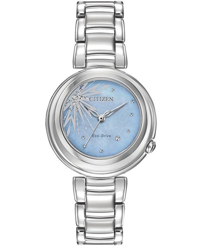Citizen - Women's Elsa Diamond-Accent Stainless Steel Bracelet Watch 31mm