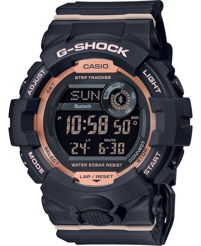 G-Shock - Women's Digital Power Trainer Black Resin Strap Watch 45.2mm