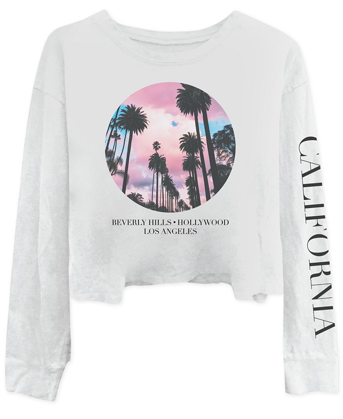 Freeze 24-7 - Juniors' California Long-Sleeve Cotton T-Shirt
