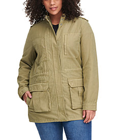 Levi's® Trendy Plus Size Stand-Collar Cotton Anorak Jacket