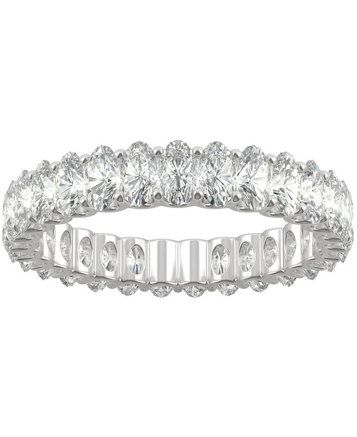 Charles & Colvard - Moissanite Oval Eternity Band (2-9/10 ct. t.w. DEW) in 14k White Gold