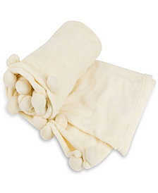 Cheer Collection Pom Pom Throw Blanket