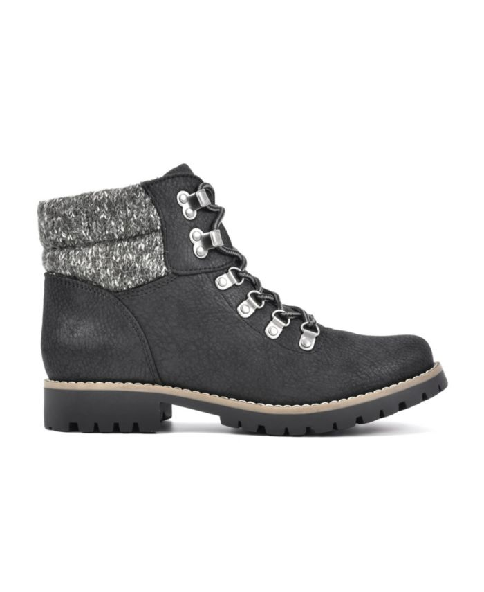 Cliffs by White Mountain Women's Pathfield Lace-Up Lug Sole Booties & Reviews - Boots - Shoes - Macy's