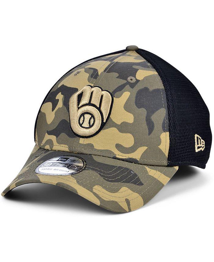 New Era - Men's Milwaukee Brewers Camo Neo 39THIRTY Cap