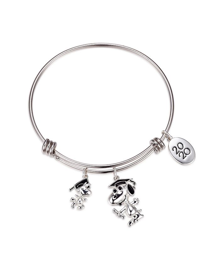 Peanuts - Graduation Adjustable Bangle Bracelet in Stainless Steel for