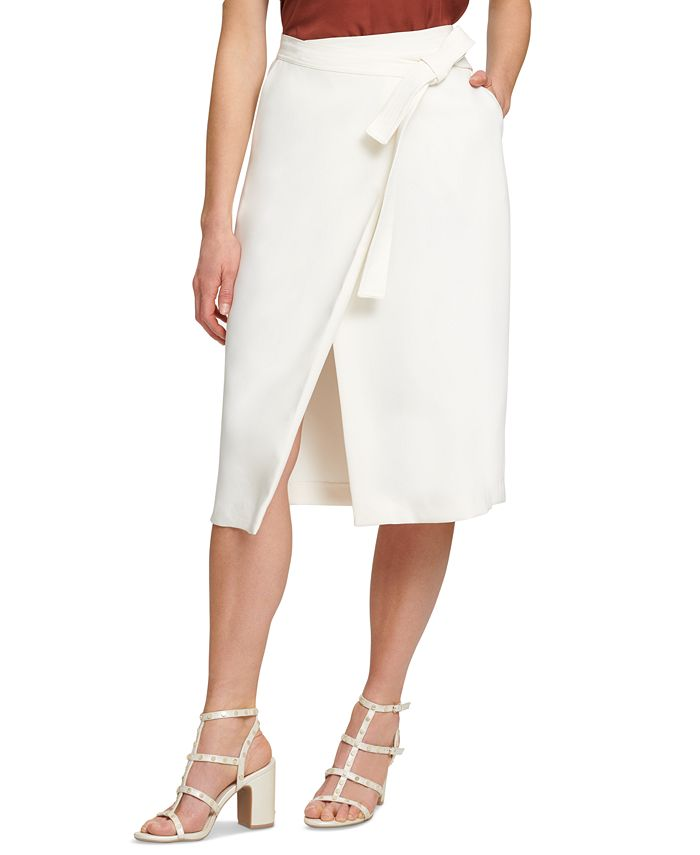 DKNY - Faux-Wrap Skirt