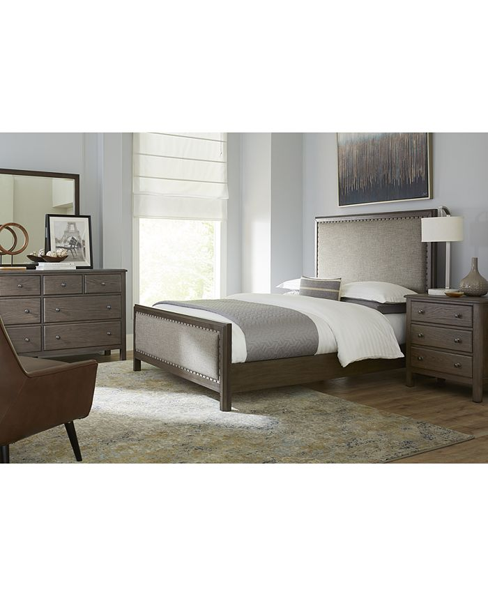 Furniture Parker Brown Platform 3 Pc Bedroom Set Queen Bed Dresser Nightstand Created For Macy S Reviews Furniture Macy S