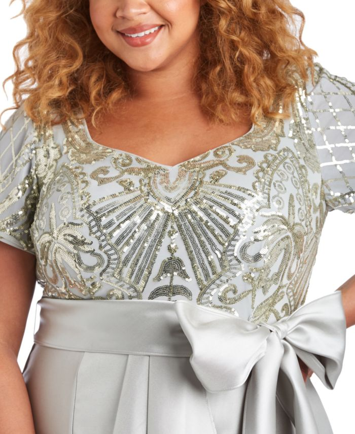 R & M Richards Plus Size Embellished High-Low Dress & Reviews - Dresses - Plus Sizes - Macy's