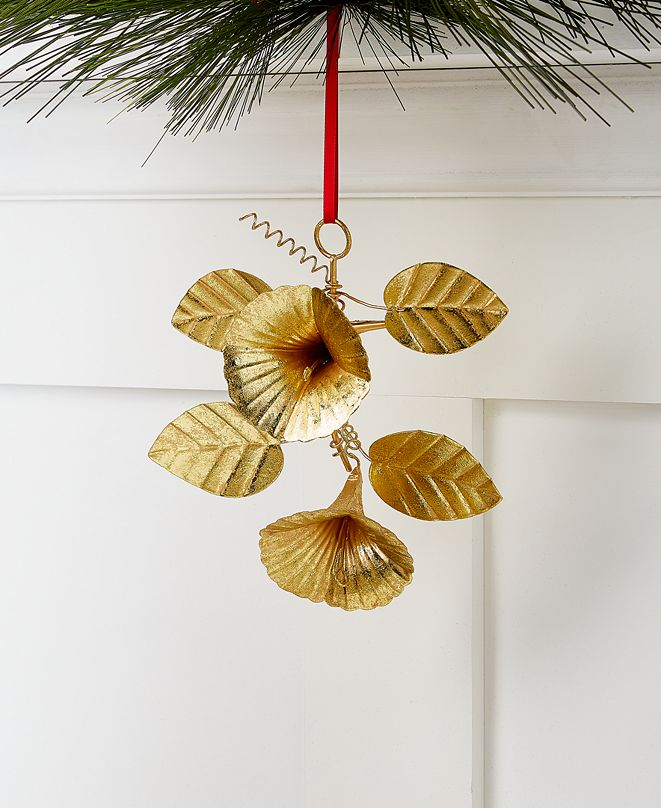 Holiday Lane Bugs & Botanicals Iron Flowers and Leaves Ornament, Created for Macy's