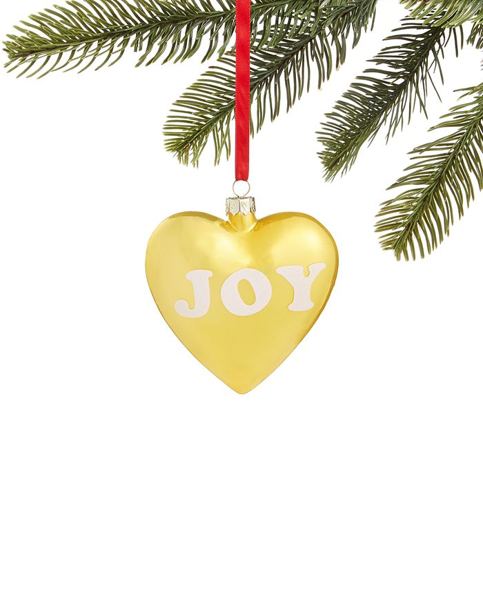 Holiday Lane - Merry & Brightest Joy Heart Ornament