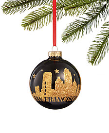 Holiday Lane San Francisco Scenic Glass Ball Ornament, Created for Macy's