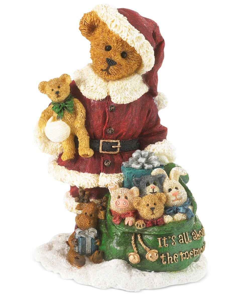 Boyds Bears Collectible Figurine, Santa Teddy Bear   Holiday Lane