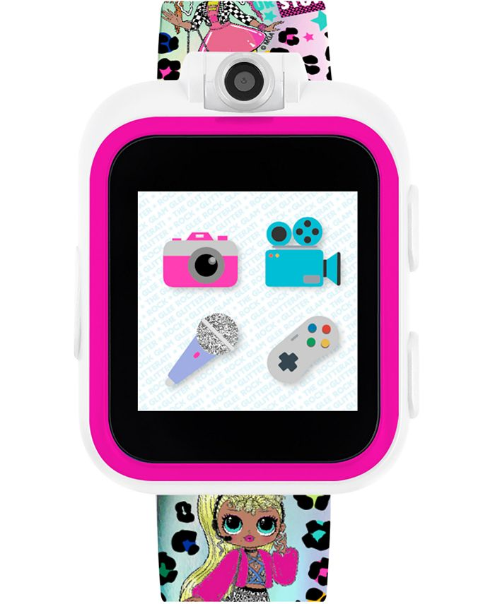 iTouch - Kid's LOL Surprise! O.M.G. PlayZoom Rainbow Neon TPU Strap Touchscreen Smart Watch 52x42mm