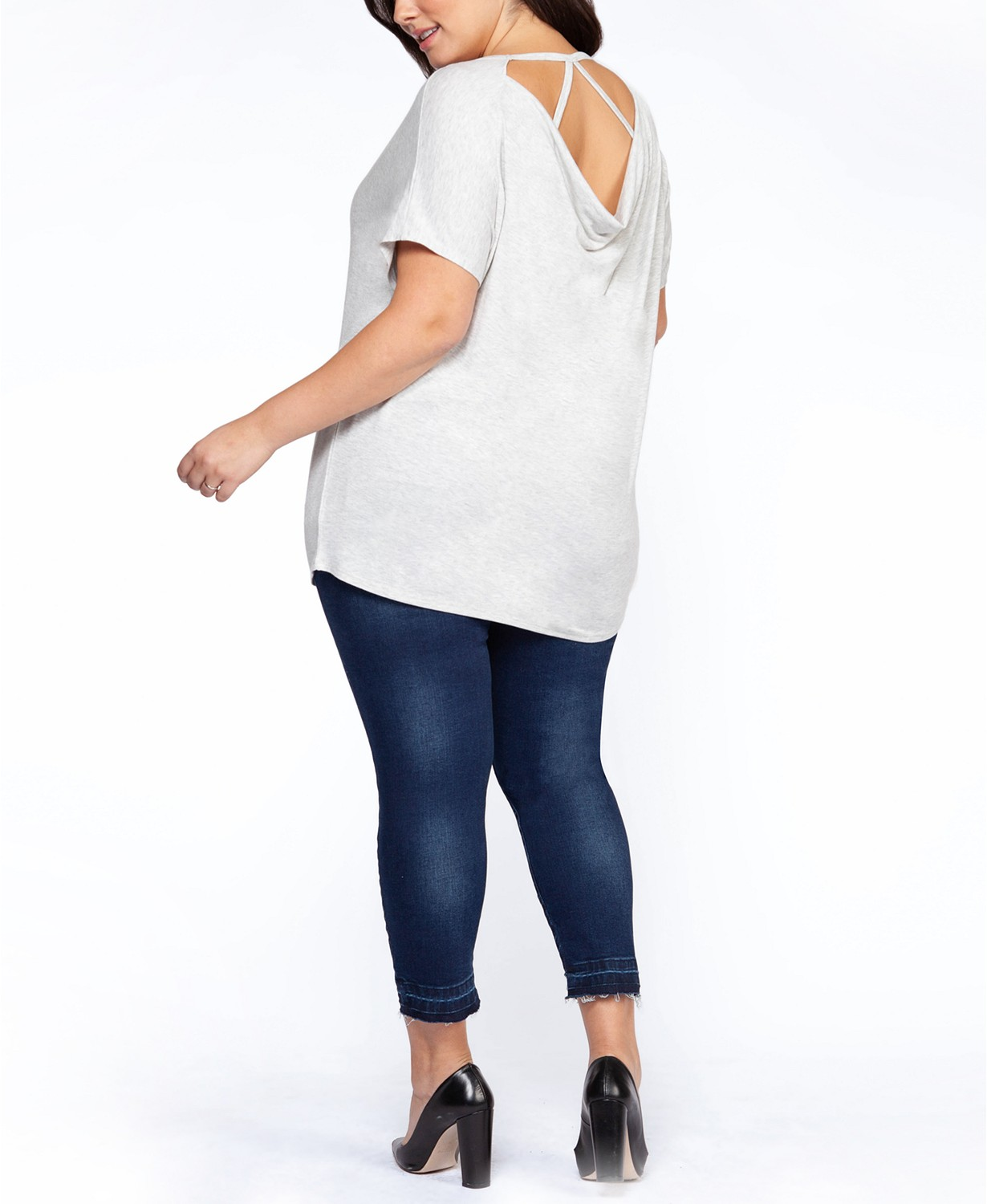(50% OFF Deal) Plus Size Strappy-Back T-Shirt $19.50